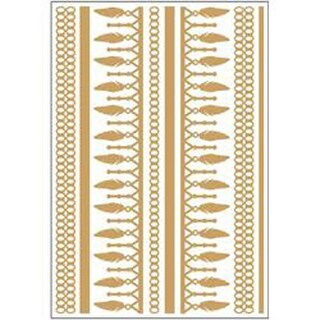 """Leaves & Chains - Temporary Tattoos Gold & Silver 5.5""""X8"""" 2 Sheets/Pkg"""