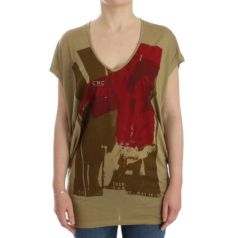 Costume National Costume National Green print shortsleeve t-shirt