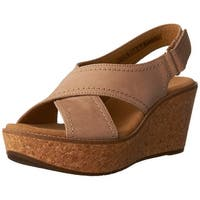 CLARKS Womens Tulip Open Toe Casual Slingback Sandals, Sand Nubuck, Size 11.0 - 11
