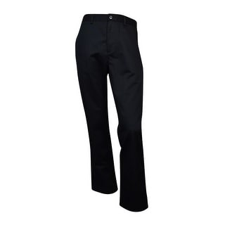 Haggar Men's Authentic Chino Straight Fit Casual Pants (Black, 38x30) - 38X30