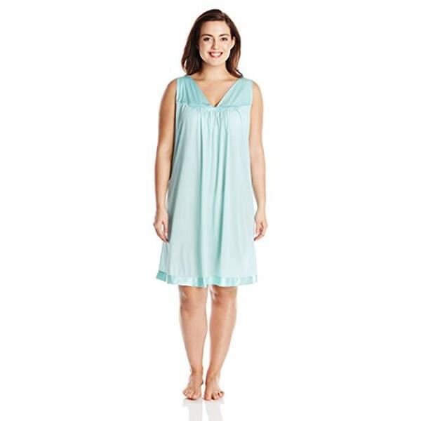Vanity Fair Women s Plus Size Coloratura Sleepwear Short Gown 30807 ... 404156205