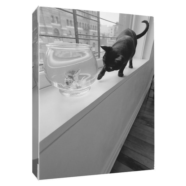 """PTM Images 9-154980 PTM Canvas Collection 10"""" x 8"""" - """"Temptation"""" Giclee Cats Art Print on Canvas"""