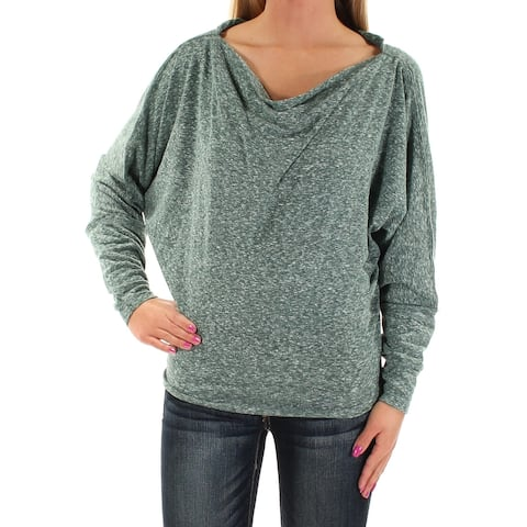 WE THE FREE Womens Green Dolman Sleeve Cowl Neck Top Size: XS