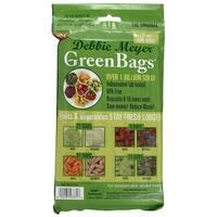 Debbie Meyer GreenBags Freshness-Preserving Food/Flower Storage Bags (Various Sizes, 20-Pack) - Green