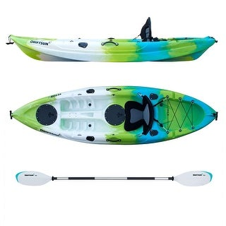 Driftsun Teton 90 Hard Shell Recreational Kayak - Single Person Sit On Top Kayak Package