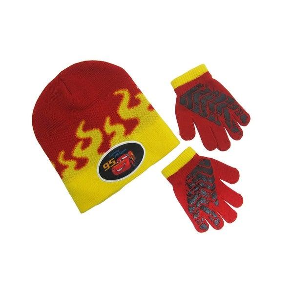 72e0d00fd8006 Shop Disney Little Boys  Cars 3 Lightning McQueen Flames Winter Beanie and Glove  Set