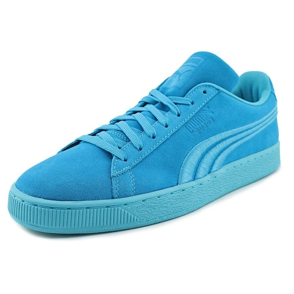 Puma Suede Classic Badge Men Round Toe Suede Blue Sneakers