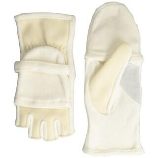 Isotoner Womens Active Fleece Convertible Fingerless Gloves - o/s