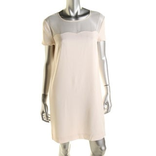 DKNY Womens Silk Blend Scalloped Cocktail Dress - 14