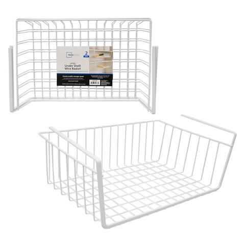 2 PCS Under Shelf Basket Closet Storage - 5.5 x 10.25 x 16