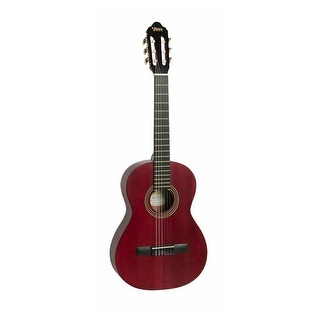 Valencia Guitar Series 200 3/4 Size Classical Acoustic Transparent Red