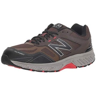 New Balance Men's 510V4 Cushioning Trail Running Shoe, Chocolate/Black/Team Red
