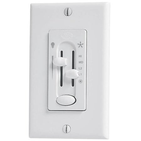 Hunter 27183 Fan & Light Dual-Slide Preset Control, White