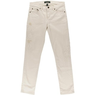 LRL Lauren Jeans Co. Womens Mid-Rise Ebroidered Straight Leg Jeans - 12