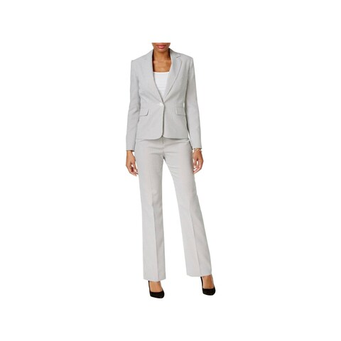 Le Suit Womens Petites Pant Suit 2PC Striped
