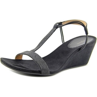 Style & Co Mulan 2 Women  Open Toe Synthetic Black Wedge Sandal