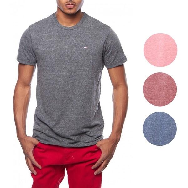 eeb2820d3 Shop Tommy Hilfiger Heather Logo Basic Crewneck Tee T-Shirt - Free ...