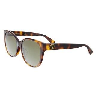 Gucci GG0097SA 002 Havana Cateye Sunglasses