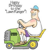 """The Lawn Ranger Set - Art Impressions People Cling Rubber Stamps 6""""X4"""""""