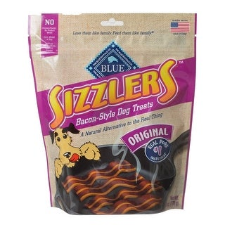 Blue Buffalo Sizzlers Bacon-Style Dog Treats 6 oz