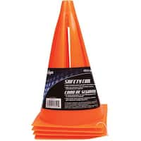 "MacGregor 40-16950 Field Safety Cone, PVC, Orange, 9"" Tall"