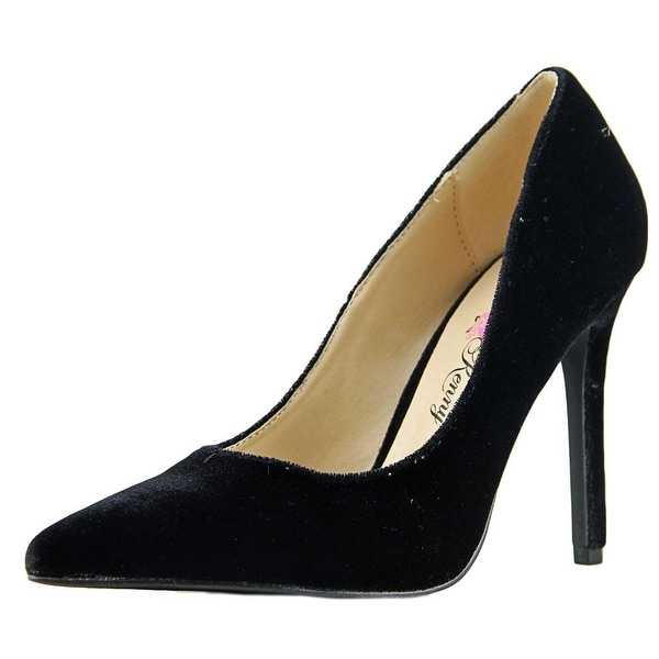 Penny Loves Kenny Main Women Pointed Toe Canvas Black Heels
