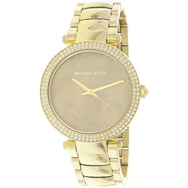 9ad2af16070f Shop Michael Kors Women s Parker Gold Stainless-Steel Fashion Watch - Free  Shipping Today - Overstock - 18619027