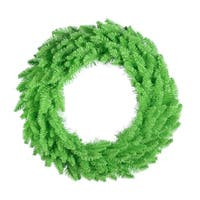 "36"" Pre-Lit Copper Fir Artificial Christmas Wreath - Clear Lights - green"