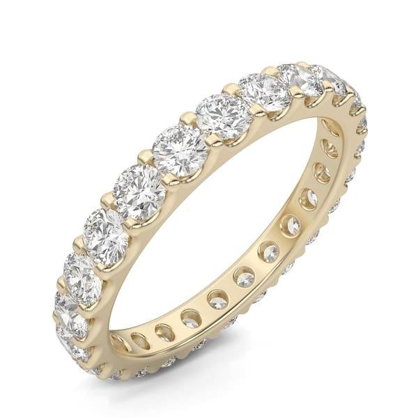 Natural 1.40Ct Round Diamond Anniversary Eternity Band Ring 10k White Gold GH I1