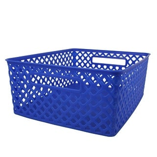 (3 Ea) Medium Blue Woven Basket