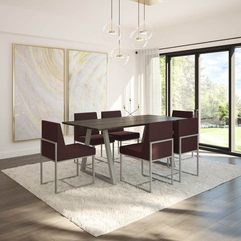Amisco Torino Table and Derry Chairs 7-piece Dining Set
