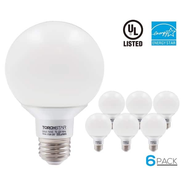 Shop 1 3 6 Pack 7w Dimmable G25 Led Bulb 2700k Soft White