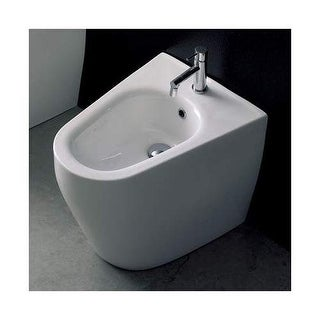 Scarabeo by Nameeks 8049/A Tizi Single Handle Floor Standing Ceramic Bidet - Bow