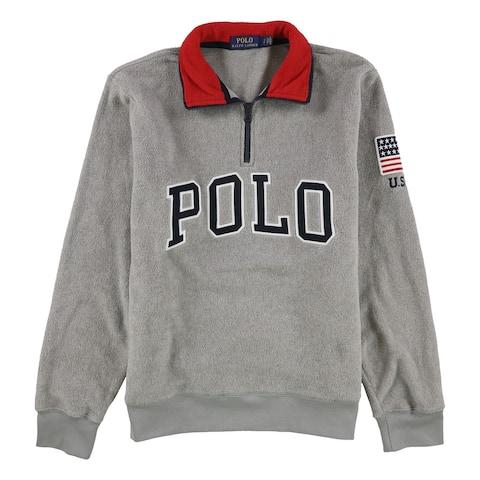 Ralph Lauren Mens Fleece Sweatshirt, Grey, Small