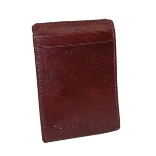 Tommy Hilfiger Men's Leather York Front Pocket Wallet with Magnetic Money Clip - One size