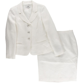 Le Suit Womens Monte Carlo Textured 2PC Skirt Suit