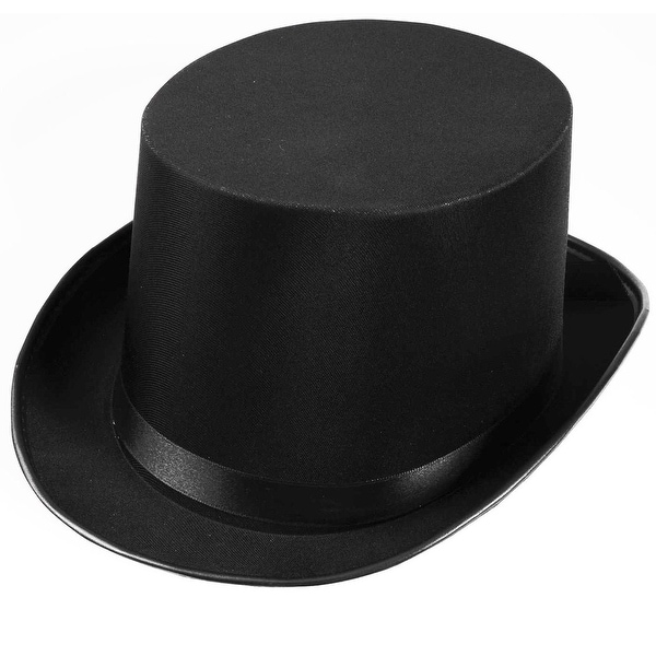 Black Satin Top Adult Costume Hat