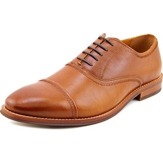 Steve Madden Nellow Men Cap Toe Leather Tan Oxford