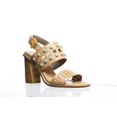 Donald J Pliner Womens Estee Fawn Ankle Strap Heels Size 7.5