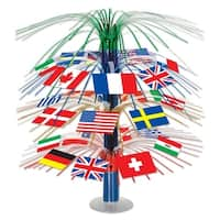 """Club Pack of 6 International Flag Cascade Centerpiece Table Top Decorations 18"""" - Multi"""