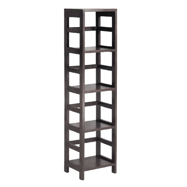 """54.75"""" Brown Standing Shelf with Four Tier - N/A"""