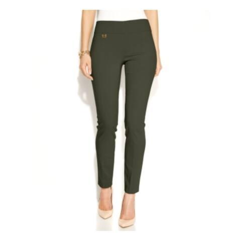 ALFANI Womens Green Skinny Pants Size 4