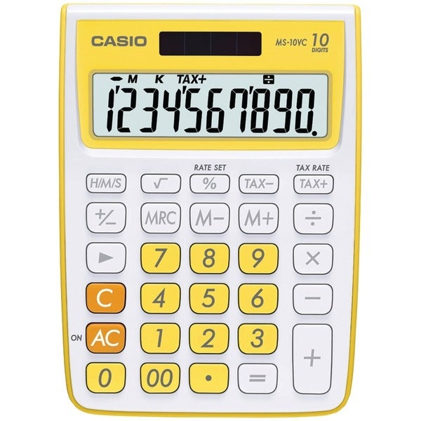 Casio Ms-10Vc-Yw 10-Digit Calculator (Yellow)