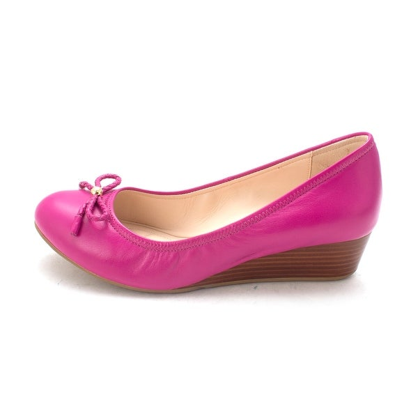 Cole Haan Womens 14A4253 Closed Toe Wedge Pumps Fuchsia Red Size 6.0