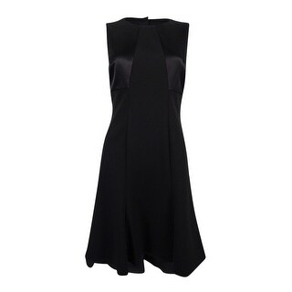 Lauren Ralph Lauren Women's Petite Bow-Back Jersey Dress - Black