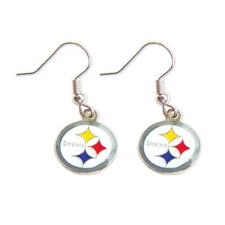 Pittsburgh Steelers Dangle Logo Earring Set Charm Gift