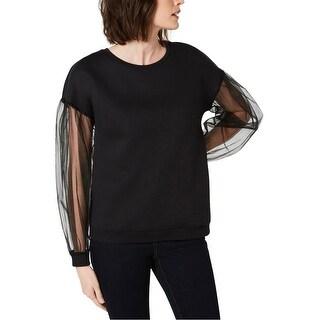 Link to I-N-C Womens Long-Sleeve Illusion Sweatshirt Similar Items in Loungewear