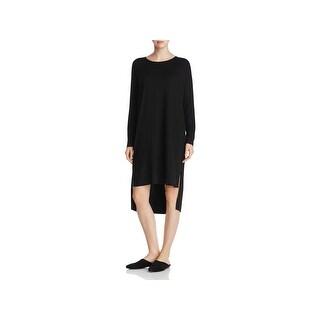 Eileen Fisher Womens Petites T-Shirt Dress Long Sleeve Hi-Low