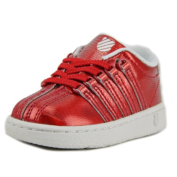 Shop K-Swiss Classic VN Shine On Girl Red White Athletic Shoes ... 45f997a9fcd4