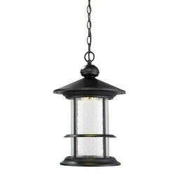 Zlite 552CHB-BK-LED Outdoor LED Black Chain Hung Light - Clear Seedy